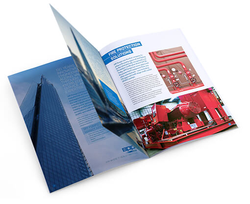 Creative Coup Branding Services SPP Print brochure open page spread
