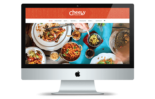 Creative Coup Branding Services Cheeky Food Company website